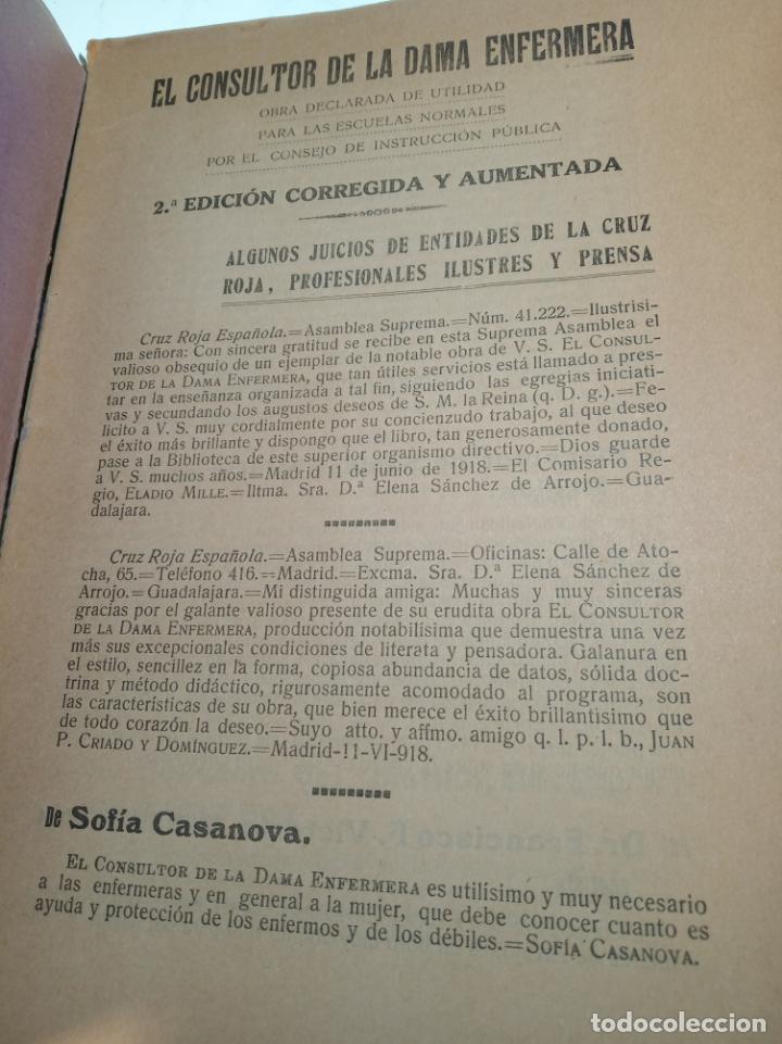 Libros antiguos: El consultor de la dama enfermera. Elena Sánchez de Arrojo. Cruz roja. Único a la venta. Firmado!! - Foto 2 - 274418553