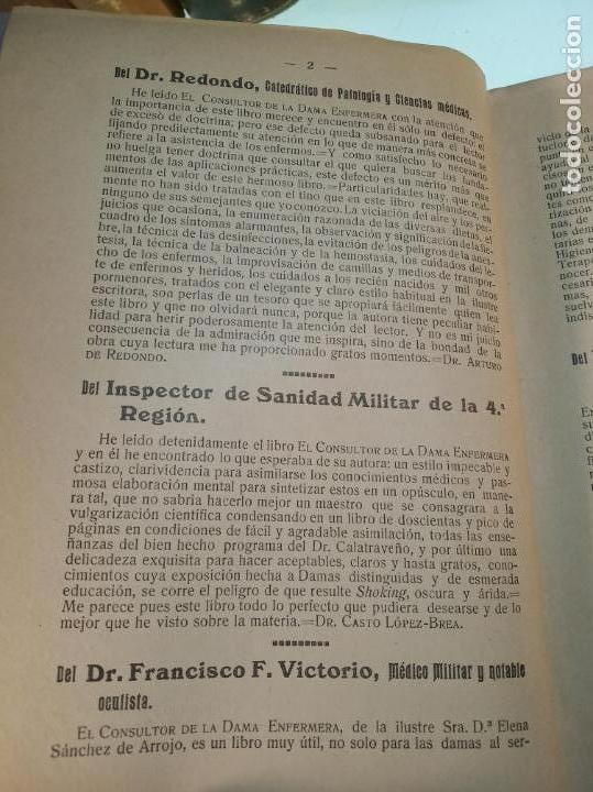 Libros antiguos: El consultor de la dama enfermera. Elena Sánchez de Arrojo. Cruz roja. Único a la venta. Firmado!! - Foto 3 - 274418553