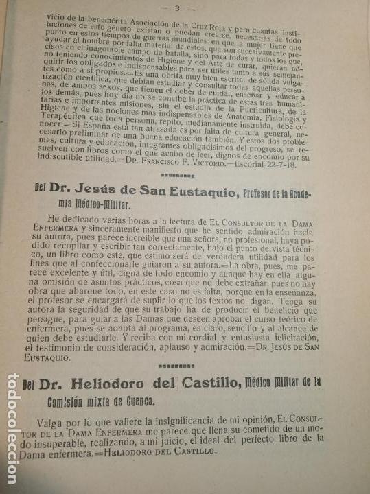 Libros antiguos: El consultor de la dama enfermera. Elena Sánchez de Arrojo. Cruz roja. Único a la venta. Firmado!! - Foto 4 - 274418553