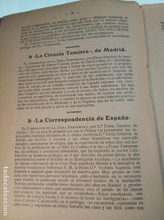 Libros antiguos: El consultor de la dama enfermera. Elena Sánchez de Arrojo. Cruz roja. Único a la venta. Firmado!! - Foto 5 - 274418553
