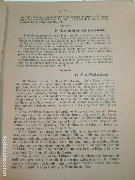 Libros antiguos: El consultor de la dama enfermera. Elena Sánchez de Arrojo. Cruz roja. Único a la venta. Firmado!! - Foto 6 - 274418553