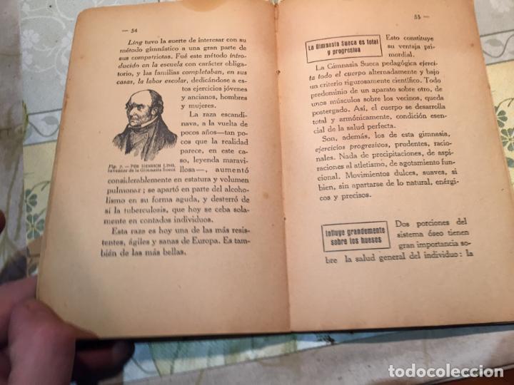 Libros antiguos: Antiguo libro salud, fuerza, belleza gimnasia Sueca por el Dr. Saimbraum - Foto 4 - 159307894