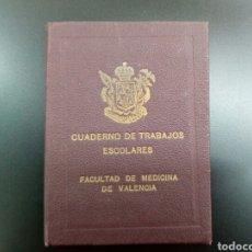 Libros antiguos: CUADERNO DE TRABAJOS ESCOLARES , FACULTAD DE MEDICINA DE VALENCIA ,CURSO 1920. Lote 159498176