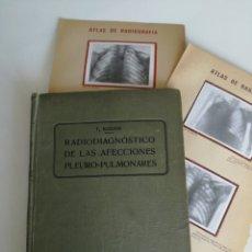 Libros antiguos: RADIO DIAGNOSTICO AFECCIONES PULMONARES - P. SALVAT 1918 // MORBID ANATOMY CREPPIEST PHOTO BIZARRE. Lote 159668350
