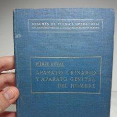 Libros antiguos: APARATO URINARIO Y GENITAL DEL HOMBRE, 1921, PIERRE DUVAL, CON 234 FIGURAS EN EL TEXTO. Lote 159804448
