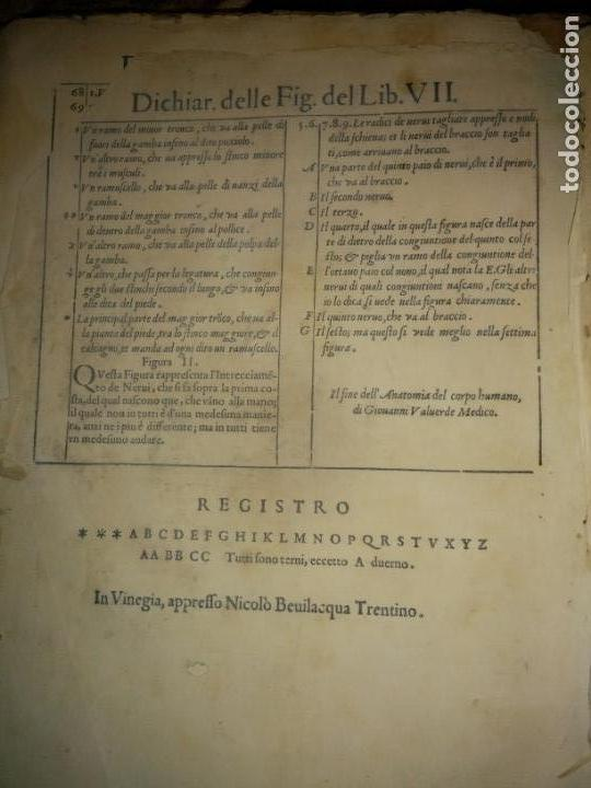 Libros antiguos: ANATOMÍA DEL CUERPO HUMANO, DE VALVERDE DE AMUSCO AÑO 1560.Siglo XVI - Foto 3 - 152441030