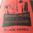Libros antiguos: MEMORIAS LUCHA ANTIVENÉREA BARRIO CHINO DE BARCELONA. Lote 160494550