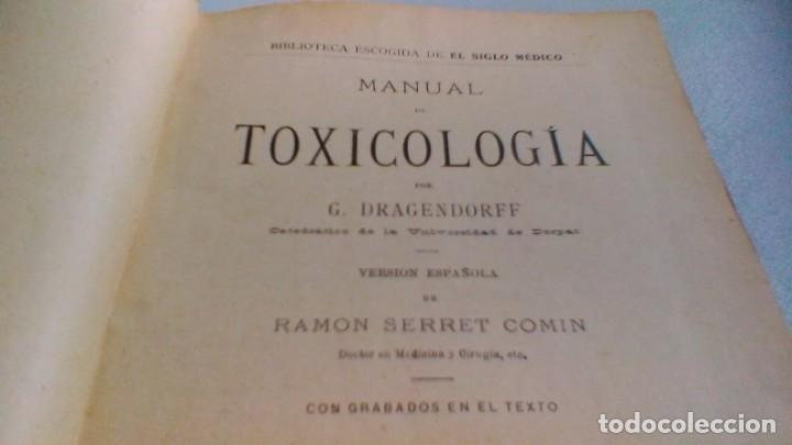Libros antiguos: MANUAL TOXICOLOGÍA - G DRAGENDORFF - ED CARLOS BAILLY BAILLIERE 1888 - Foto 5 - 160641622