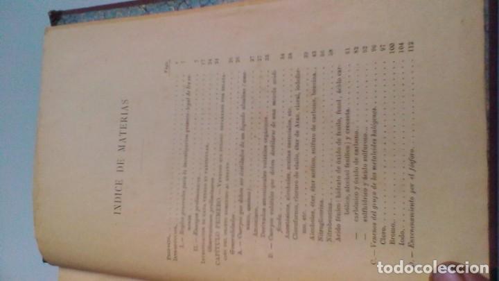 Libros antiguos: MANUAL TOXICOLOGÍA - G DRAGENDORFF - ED CARLOS BAILLY BAILLIERE 1888 - Foto 8 - 160641622