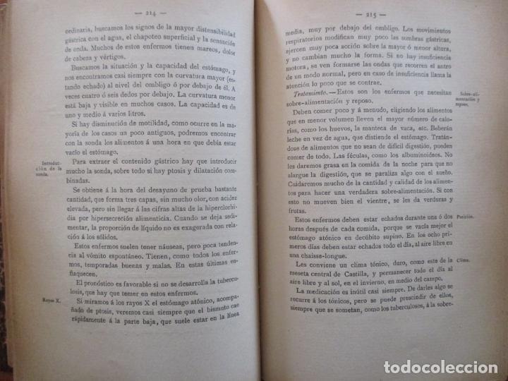 Libros antiguos: ENFERMEDADES DEL ESÓFAGO Y DEL ESTÓMAGO - JUAN MADINAVEITIA - MADRID - 1910 - VICTORIANO SUÁREZ - - Foto 3 - 160668694