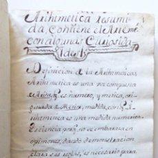 Libros antiguos: MANUSCRITO DE ARITMÉTICA, RECETAS Y PÓCIMAS S.XVIII. Lote 160686634