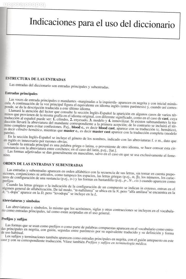 Libros antiguos: * MEDICINA * Stedman biblingüe : Diccionario de Ciencias Médicas Inglés-Español, Español-Inglés. - Foto 3 - 160773154