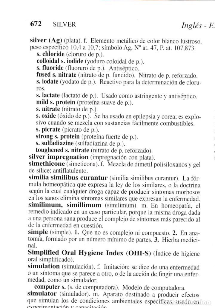Libros antiguos: * MEDICINA * Stedman biblingüe : Diccionario de Ciencias Médicas Inglés-Español, Español-Inglés. - Foto 4 - 160773154