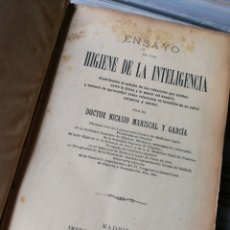 Libros antiguos: ENSAYO HIGIENE DE LA INTELIGENCIA- DR.NICASIO MARISCAL Y GARCÍA, IMPRENTA DE RICARDO ROJAS, 1898.. Lote 161642600