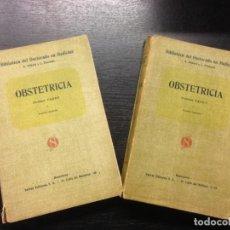 Libros antiguos: OBSTETRICIA, PROFESOR FABRE, 1928 (2 TOMOS). Lote 163954302