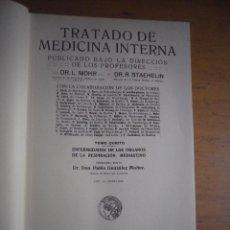 Libros antiguos: TRATADO DE MEDICINA INTERNA MOHR - STAEHELIN SATURNINO CALLEJA 17 TOMOS 1922. Lote 165057374