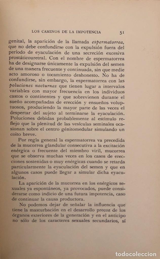 Libros antiguos: IMPOTENCIA Y ESTERILIDAD. ALFONSO ARTEAGA PEREIRA. EDICIONES IBERIA. BARCELONA, 1929. - Foto 3 - 165525482