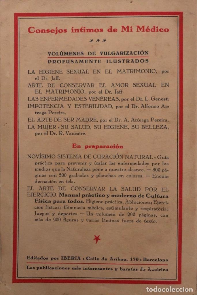 Libros antiguos: IMPOTENCIA Y ESTERILIDAD. ALFONSO ARTEAGA PEREIRA. EDICIONES IBERIA. BARCELONA, 1929. - Foto 4 - 165525482