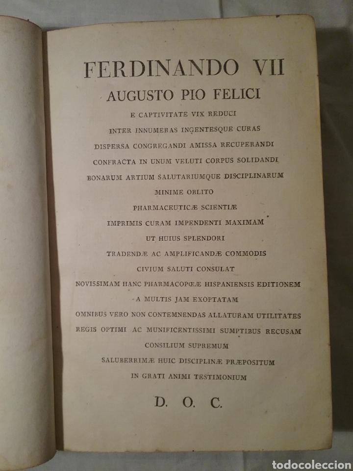 Libros antiguos: FHARMACOPEA HISPANA 1817 ,cuarta edicion , 358 paginas, 22.50cm x 15cm x 3.50 cm - Foto 4 - 165873492