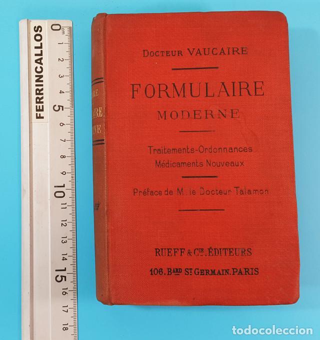 Libros antiguos: FORMULAIRE MODERNE DOCTEUR VAUCAIRE TRAITEMENTS ORDONNANCES MEDICAMENTS,FORMULARIO MEDICAMENTOS 1892 - Foto 2 - 166315058