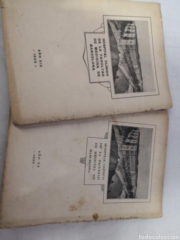 LOTE DE 2 LIBROS DEL HOSPITAL CLÍNICO DE BARCELONA. 1025 Y 1926 (Libros Antiguos, Raros y Curiosos - Ciencias, Manuales y Oficios - Medicina, Farmacia y Salud)
