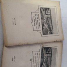 Libros antiguos: LOTE DE 2 LIBROS DEL HOSPITAL CLÍNICO DE BARCELONA. 1025 Y 1926. Lote 167569048