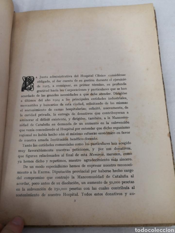 Libros antiguos: Lote de 2 libros del HOSPITAL CLÍNICO DE BARCELONA. 1025 y 1926 - Foto 4 - 167569048