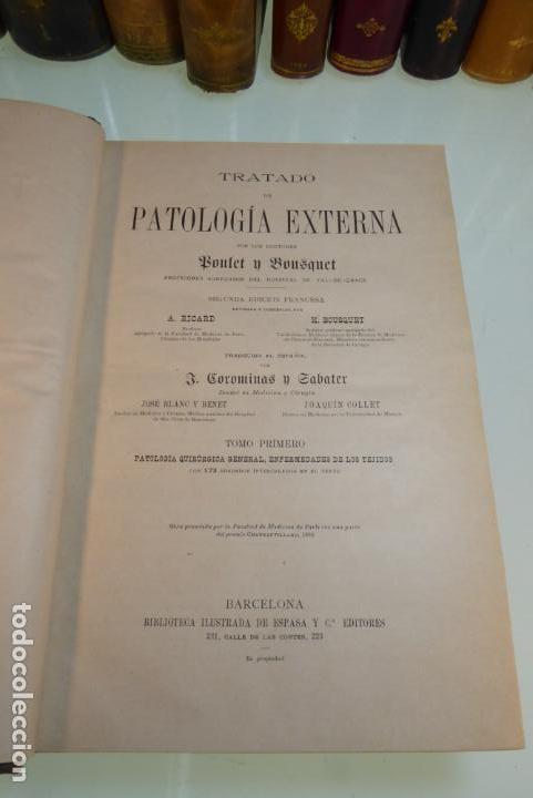 Libros antiguos: Tratado de patología externa. Boulet y Bousquet. Tomo primero. Barcelona. 1892. - Foto 3 - 167827492