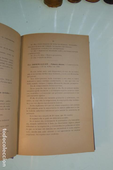 Libros antiguos: Tratamiento de la neumonía. A. M. De Obieta. Imprenta y litografía de Juan E. Delmas. Bilbao. 1893. - Foto 4 - 167832884