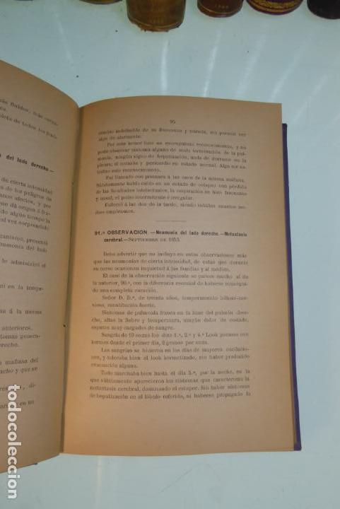 Libros antiguos: Tratamiento de la neumonía. A. M. De Obieta. Imprenta y litografía de Juan E. Delmas. Bilbao. 1893. - Foto 5 - 167832884