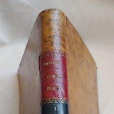 Libros antiguos: 1899 LECCIONES CLINICA MEDICA, EN PIEL. Lote 168085361
