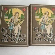 Libros antiguos: 2 TOMOS EL MEDICO EN CASA 1925 ENCICLOPEDIA PRACTICA ILUSTRADA MEDICINA E HIGIENE. Lote 168107168