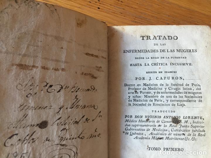 Libros antiguos: TRATADO DE LAS ENFERMEDADES DE LAS MUGERES, J.CAPURON 1818 - Foto 4 - 168277620