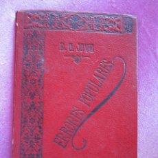 Libros antiguos: ERRORES POPULARES MAL DE OJO Y OTROS ELADIO G JOVE MEDICO Y ESCRITOR DE LAVIANA 1891 C55. Lote 168335204