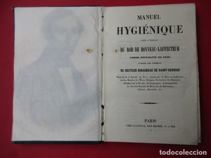 MANUEL HYGIÉNIQUE. ROB DE BOYVEAU-LAFFECTRUT. PARIS.118 PÁGINAS + 2 LÁMINAS PLEGADAS. 14 X 9 CM. (Libros Antiguos, Raros y Curiosos - Ciencias, Manuales y Oficios - Medicina, Farmacia y Salud)
