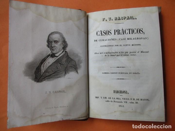 CASOS PRÁCTICOS DE CURACIONES (CASI MILAGROSAS). RASPAIL. 1851. HOLANDESA.208 PÁGINAS. 17 X 11 CM. (Libros Antiguos, Raros y Curiosos - Ciencias, Manuales y Oficios - Medicina, Farmacia y Salud)