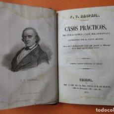 Libros antiguos: CASOS PRÁCTICOS DE CURACIONES (CASI MILAGROSAS). RASPAIL. 1851. HOLANDESA.208 PÁGINAS. 17 X 11 CM.. Lote 168445300
