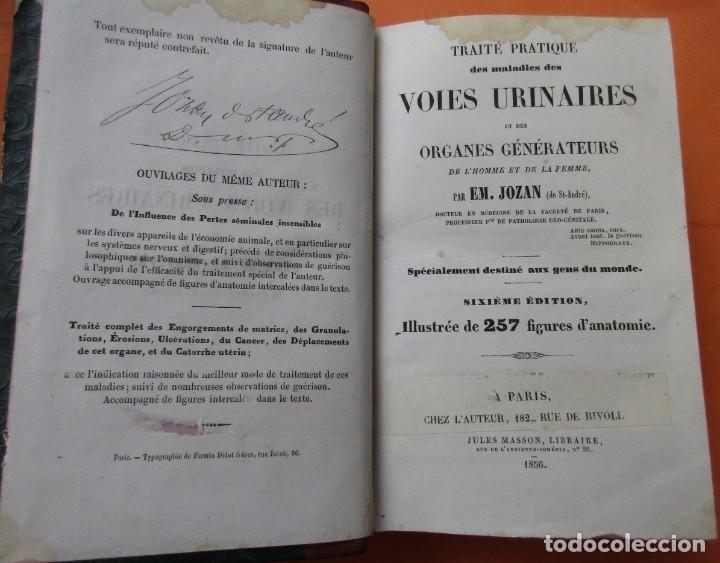 VOIES URINAIRES ET ORGANES GÉNÉRATEURS. EM. JOZAM. PARIS 1856. HOLANDESA. 779 PÁGINAS.18,5 X 12,5 CM (Libros Antiguos, Raros y Curiosos - Ciencias, Manuales y Oficios - Medicina, Farmacia y Salud)