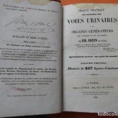 Libros antiguos: VOIES URINAIRES ET ORGANES GÉNÉRATEURS. EM. JOZAM. PARIS 1856. HOLANDESA. 779 PÁGINAS.18,5 X 12,5 CM. Lote 168664160