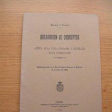 Libros antiguos: ACLARACION DE CONCEPTOS ACERCA DE LA NUEVA ETIOLOGIA DE LA TUBERCOLOSIS, DR. J. FERRAN, 1923. Lote 168764484