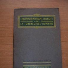 Libros antiguos: TERPIODOL, COMBINAISONS RADIACTIVES, P. ROUIL, PARIS, 18 PAGINAS. Lote 168876308