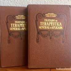 Libros antiguos: TRATADO DE TERAPÉUTICA GENERAL Y APLICADA, KRAUSE Y GARRÉ 1912 BARCELONA. Lote 169000742