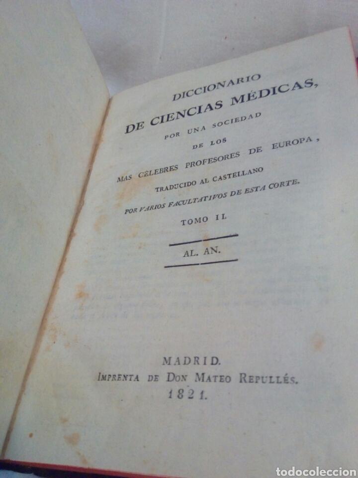 Libros antiguos: Medicina año 1821 diccionario de ciencias médicas tomo 2 - Foto 4 - 169096689