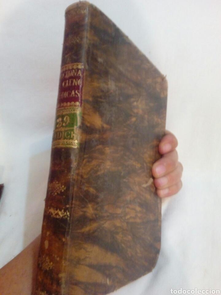 Libros antiguos: Medicina año 1827 diccionario de ciencias médicas tomo 39 indice - Foto 2 - 169096973