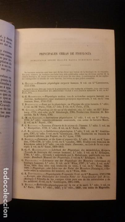 Libros antiguos: 1871 - BECLARD - Tratado elemental de fisiología humana - Foto 3 - 169682540