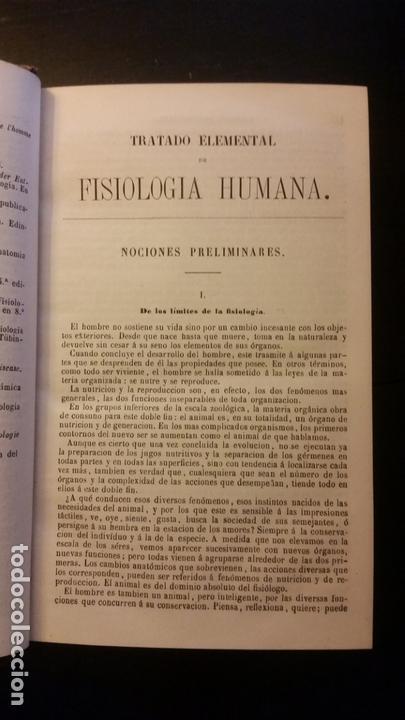 Libros antiguos: 1871 - BECLARD - Tratado elemental de fisiología humana - Foto 4 - 169682540