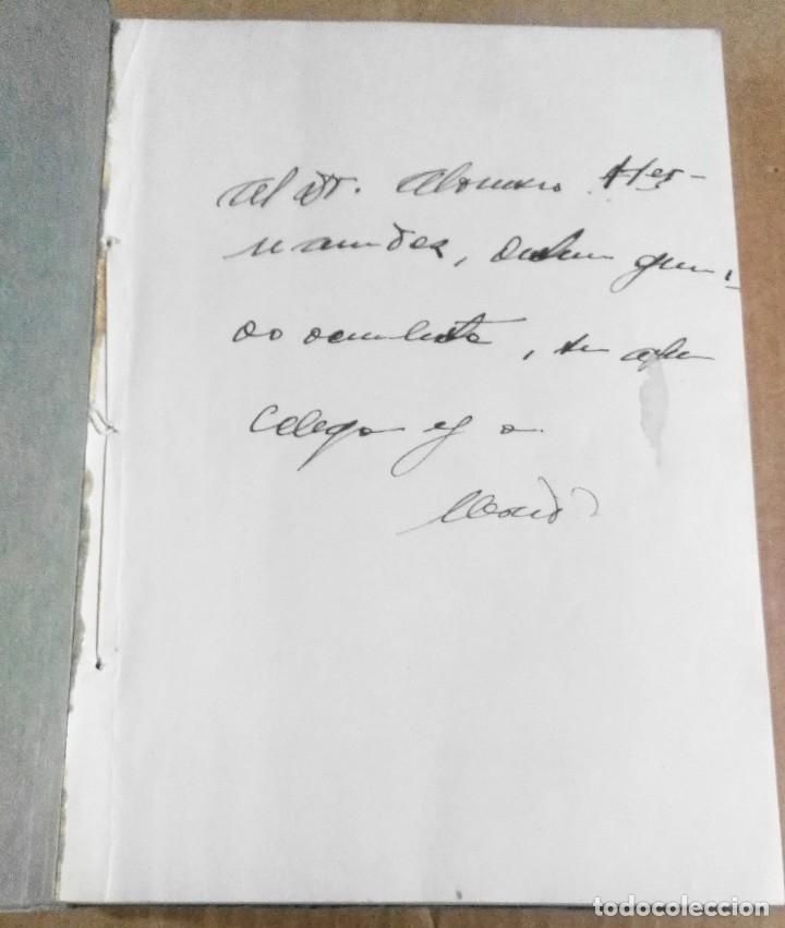 Libros antiguos: Mérida Nicolich, Las acciones farmacológicas locales en oculística, Málaga, 1928. Farmacia - Foto 3 - 169759344
