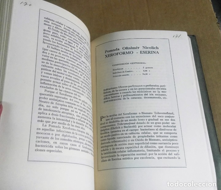 Libros antiguos: Mérida Nicolich, Las acciones farmacológicas locales en oculística, Málaga, 1928. Farmacia - Foto 5 - 169759344