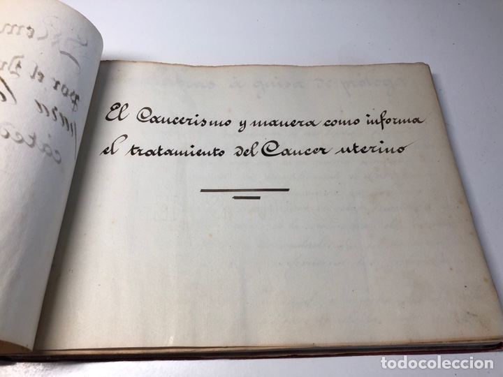 Libros antiguos: LIBRO MANUSCRITO 1904 MEMORIA Dr. C. SAMPIETRO OBSTETRICIA Y GINECOLOGIA ZARAGOZA - Foto 2 - 170162906