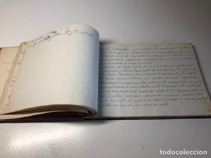 Libros antiguos: LIBRO MANUSCRITO 1904 MEMORIA Dr. C. SAMPIETRO OBSTETRICIA Y GINECOLOGIA ZARAGOZA - Foto 6 - 170162906